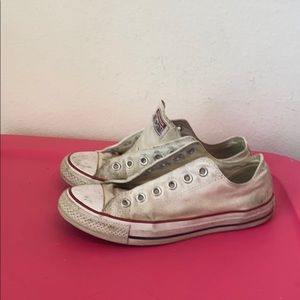 Womens CONVERSE ALL STAR CREAM SNEAKERS 8.5